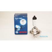 Лампочка H7 55W Pure Light - Standart, 1987302071 BOSCH
