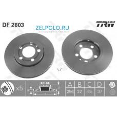 Тормозные диски передние TRW DF2803